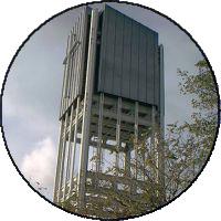 Glockenturm der Martin-Niemöller-Kirche