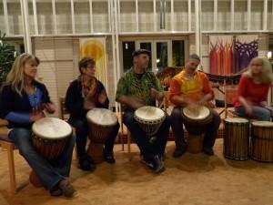 Trommelgruppe als Vorgruppe zum Konzert Faszination Afrika - 4.11.2014